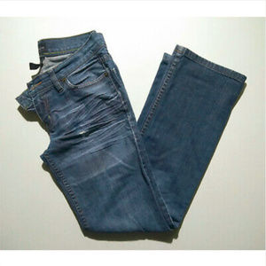 The Limited Jeans 2 Short Distressed Blue Straight